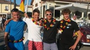 Teamfoto (Matthias Rummel,Matthes Waack, Matti Cipra,Malte Winkel v.l.)