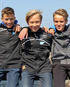 MV durch die Brüder Roko und Mic Mohr (Plauer WV) bei der WM bzw. EM der Optimisten am Start